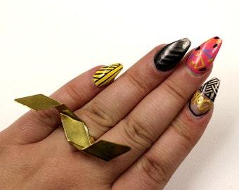 SALE Brass Metal Statement Ring