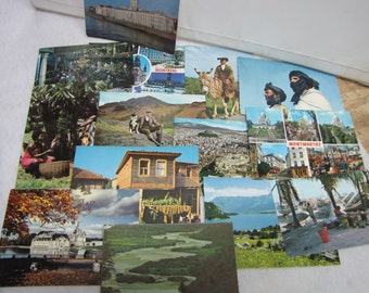 28 Vintage Post Cards(Used) from Around the World