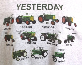 tractor shirt, green tractor shirt, oliver tractor shirt, vintage oliver shirt, historical oliver shirt, farm shirt,  tractor shirt