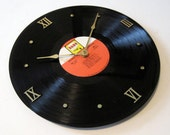 Neil Diamond - Double Gold - Vinyl Record Album CLOCK - recycled, upcycled