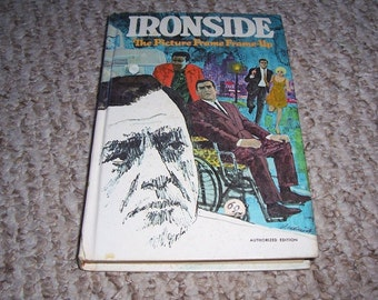 1969 Ironside book Picture Frame Frame-Up TV Show Raymond Burr Illustrated HC Whitman