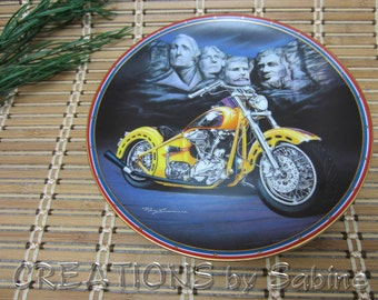 Harley Davidson Easyriders Plate Patriot's Pride Hamilton collection 1995 Lacourciere Mt Rushmore Presidents Motorcycle FREE SHIPPING (307)