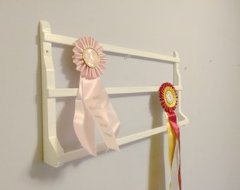 "Horse Show Ribbon  Display Rack / ""Classic"" Pine/ Equestrian Display Rack"