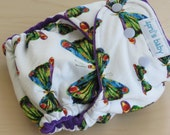 One Size Hybrid Fitted Cloth Diaper - The Very Hungry Catterpillar