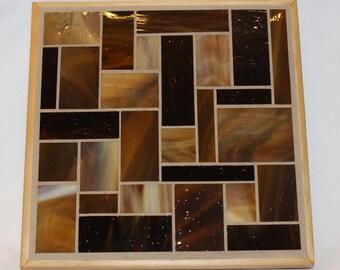 Brown glass mosiac trivet