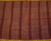6.3ft X 4.3ft, Hemp Fabric, Vintage Hand loomed Hemp Fabric