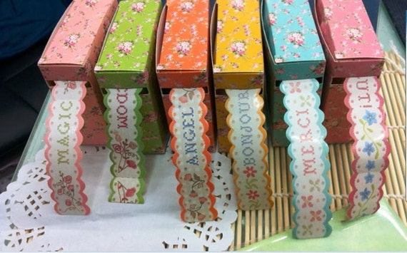 3 Pcs Vintage DIY Rural wind Beautiful Smaller ditsy florals Multi-function Adornment Masking Tape/Washi tape
