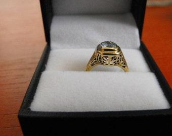 Beautiful antique Edwardian 14k yellow gold ring
