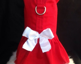 Christmas Dog Harness - Mrs. Claus - Size XS, S, M (Made to order)