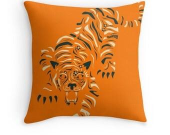 TIGER (Throw Pillow for the Home Décor) orange version