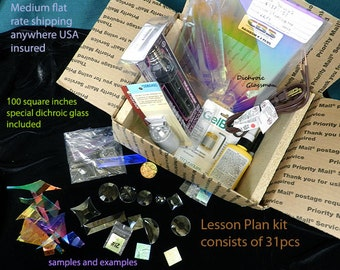 Dichroic Glass Bevel and Jewel Lesson Plan Kit / Videos