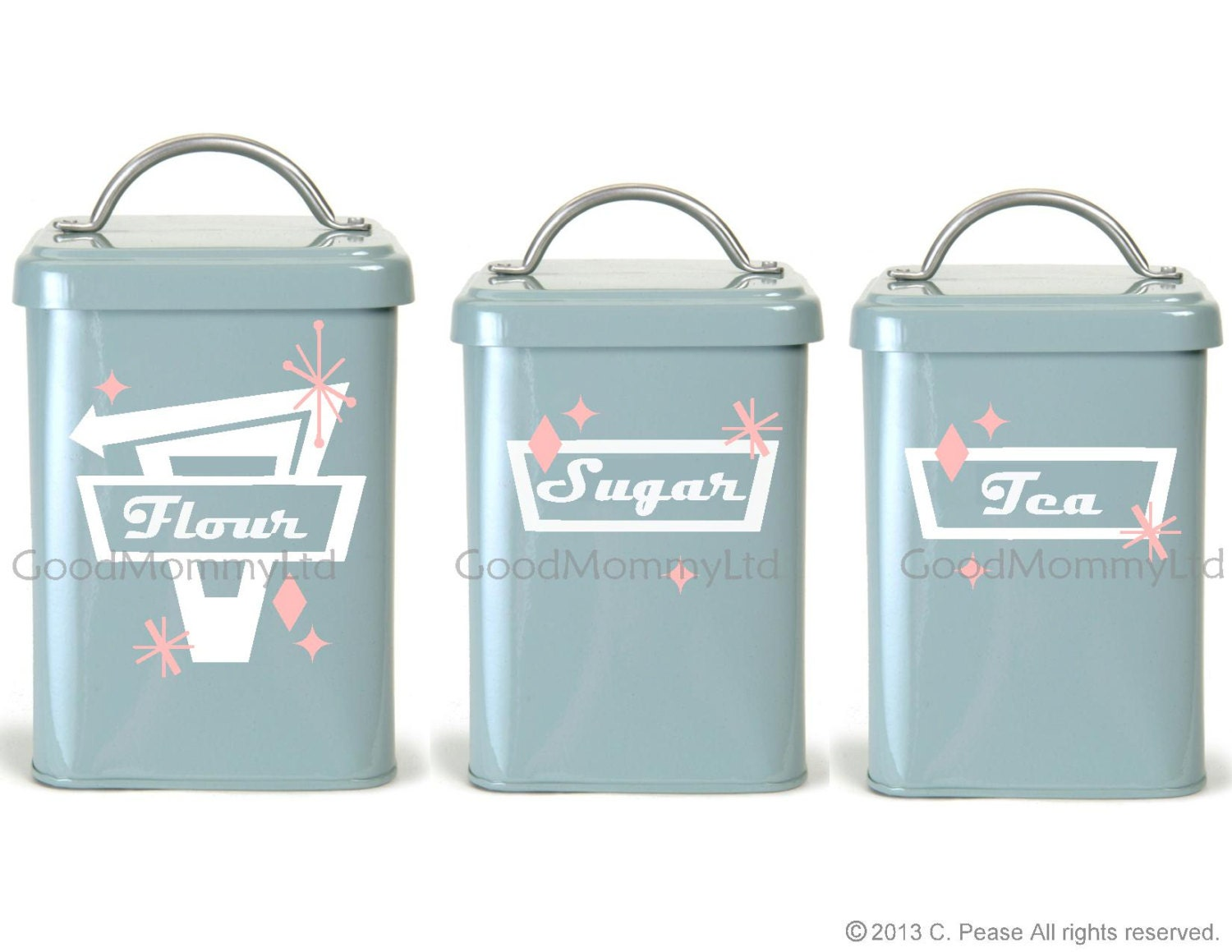 kitchen canister decal labels retro stars vinyl vinyl labels for kitchen canisters