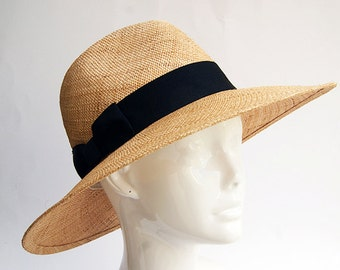 Wide brim straw hat , Fedora straw hat ,  Fedora straw hat for women, straw hat for men, Summer hats , Sun Hat , Beach hat