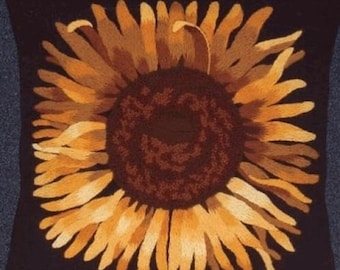 Sunflower Pillow Crewel Embroidery Kit Needle Treasures 00687 33cm Square