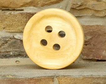 "Large Wood Button 6"" - Big Wooden Button - 6 Inch Huge Wood Button"