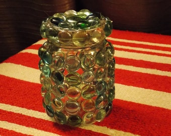 fried marble suncatcher jars/vases/bottles