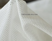 White Black Mesh Fabric For Bags Lining Desinger Clothes Hollowed- 1/2 yard