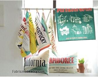 "Bag Curtain Fabric Clothes- Cotton Linen Fabric Fashion Cut Ups Chef Lady Panel Vintage Retro Style - 34""X57"" 8 Cuts"