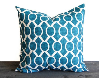 Teal blue throw pillow cover cushion cover turquoise teal throw pillow Sydney