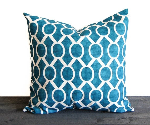 Teal Blue Throw Pillow Covers : Items similar to Teal blue throw pillow cover cushion cover turquoise teal throw pillow Sydney ...