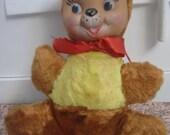 knickerbocker, Happy, baby, bear. Rubber faced doll,