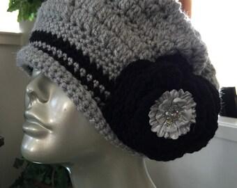 handcrochet vintage style fashion hat