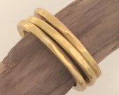 simple and classical 22k hammered bands by ann biederman