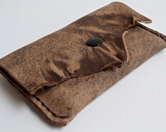 Soft leather business card case, leather credit card case