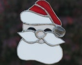 Santa Claus Stained Glass Christmas Ornament Suncatcher