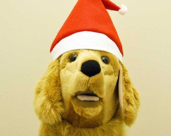 Christmas Dog Santa Hat LARGE   Photo Prop   Large Dog Santa Hat
