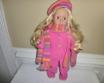 "American Girl Doll/18"" Doll -  Coat, Hat, Scarf, Boots, Mittens, Bag"
