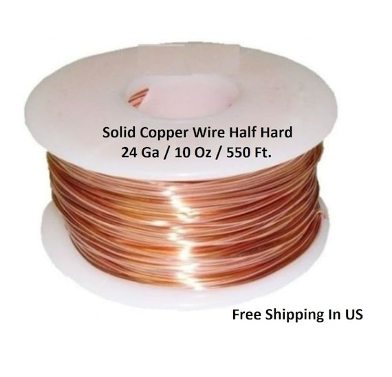 Solid Copper Wire Ampacity : Genuine solid copper wire ga oz ft half hard