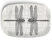 Dragonfly Melamine Platter, Dictionary Background