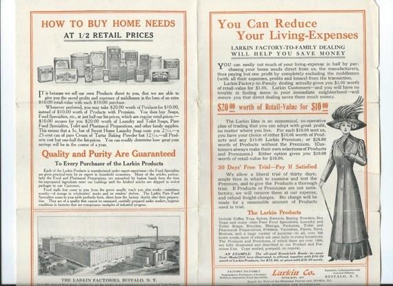 Antique Larkin Soap Co Furniture Buffalo Ny Catalog