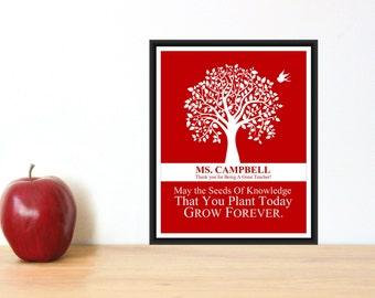 Teacher Appreciation Gift - Teacher Print - Tree Print - Personalized Teacher Gift