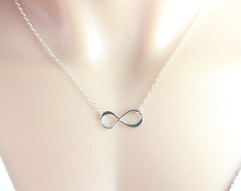 Sterling Silver Infinity Necklace . Infinity Jewellery.  silver Infinity charm. Love symbol, friendship symbol. sisters, mothers day gift.