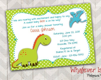 dinosaur baby shower invitations