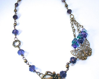 PURPLE - BUTTERFLY NECKLACE