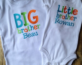 Custom big brother little brother sibling shirts