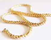 Vintage Thick Gold Chain, Gold Statement Necklace, Big Bold Gold Chain