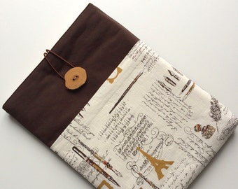 11 inch Macbook AIR case, macbook sleeve, macbook case cover with pocket handmade oak button