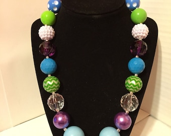 Blue Skies Chunky Necklace