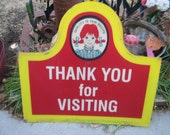 Thank You for Visiting Sign Wendy's