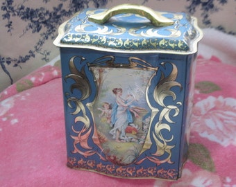 Pretty Victorian Tin Can Made in England  :)S