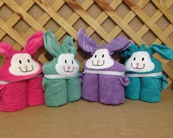 Bunny Hooded Towel Set