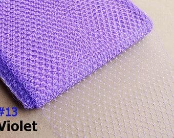 Violet Russian Birdcage Veiling / Birdcage Veil / DIY Bridal Veil / Bridal Veil / 9 inch/ Wedding Fascinator