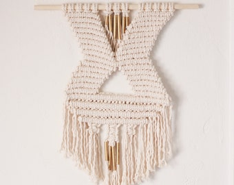 Macrame Wall Hanging with Brass Details