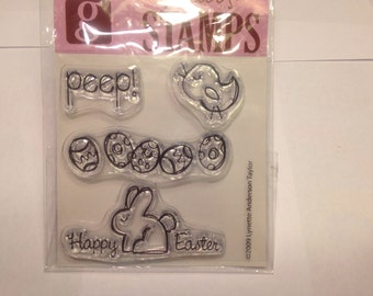 Happy Easter clear stamp set, 20-50 mm (BB4)