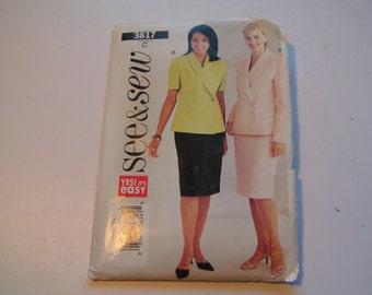 Butterick See & Sew Pattern 3817 Miss Top Skirt