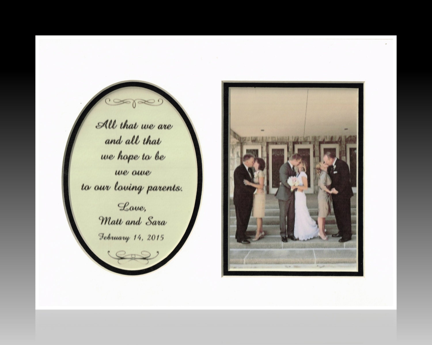 Unique Parent Wedding Gift Ideas: Parents Mom And Dad Wedding Gift Thank You Personalized